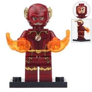 The Flash Matte Red Minifigure Super Heroes Figure For Custom Lego