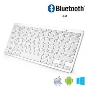 Bluetooth 3.0 Wireless Keyboard For Apple iPad-1 2 3 4 Mac Computer PC Macbook