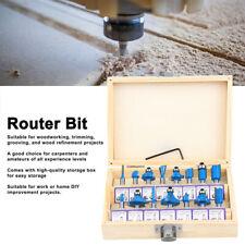15pcs Milling Cutter Bits Drill Bit Router Set Woodworking Tool Kit 14 Shank