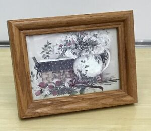 Pat Richter Longaberger Small Framed Print Bear Paw Prints
