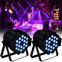 2Pcs 18x8W RGBW LED PAR Light Stage Wash DMX 8CH DJ Disco Party Show DJ Wedding