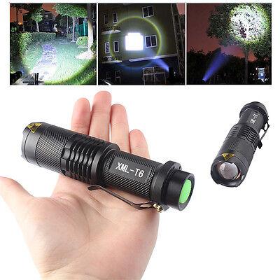 Mini 2500LM 5 Modes XML T6 LED Adjustable Focus Flashlight Torch Light Lamp