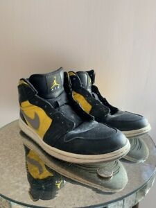 Nike Air Jordan 1 Retro Phat Basketball Shoes Black Yellow 364770 ... e897b5b32