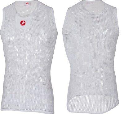 Castelli Core Mesh 3 Sleeveless Funktionsunterhemd Ärmellos, Weiß, versch Größen