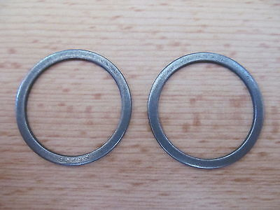 97-0431 TRIUMPH 500 650 1955-63 PREUNIT FORK TUBE OIL SEAL RETAINING WASHER