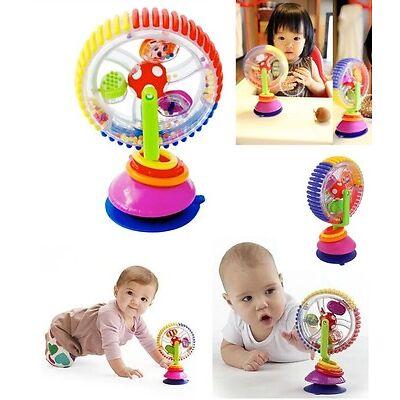 Baby Kid Child Sassy Rainbow Observe Ferris Wheel Rattle Suction High Chair Toy