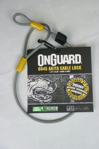"53cm x 5mm Flexible Steel Charity!!! OnGuard 8045 Akita Cable Lock 1.72/'x0.20/"""