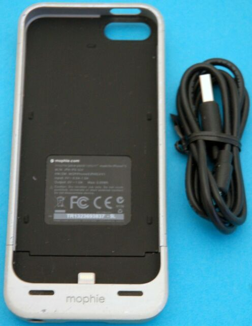 02a088697 Silver Mophie Juice Pack Helium iPhone 5/5s/SE Case 1500mAh Battery Charger  USED