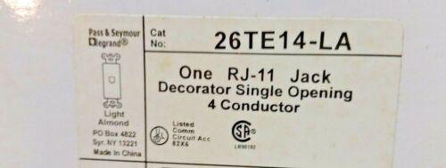 QTY-2 RJ-11 phone jack   26TE14-LA P/&S TRADEMASTER 1 RJ-11 JACK SINGLE 2 pcs