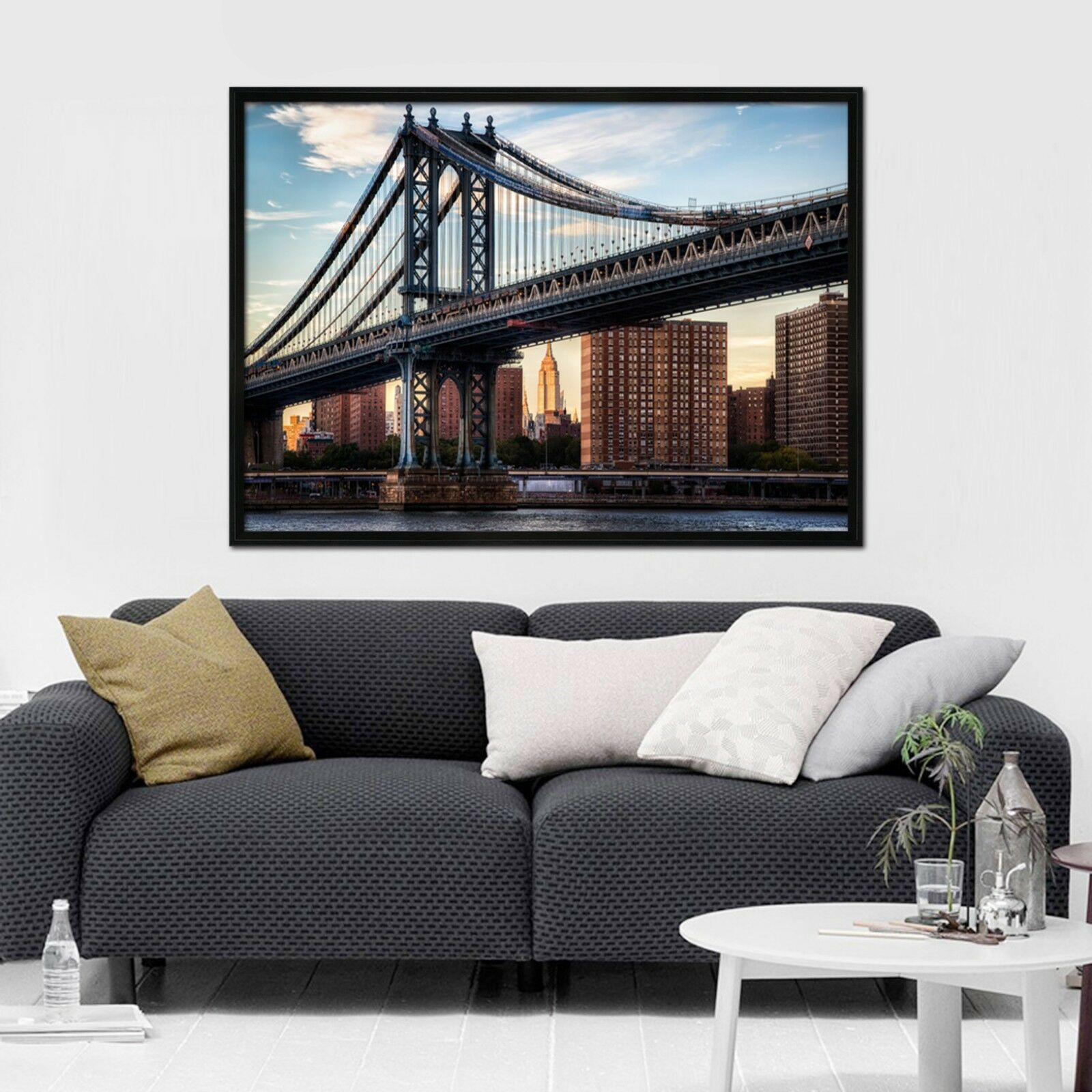 3D New York Pont 67 Framed Poster Home Decor imprimer peinture art AJ papier peint