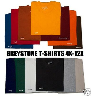 BIG & TALL Size Greystone T-Shirts HEAVY DUTY No Pocket 101 5X 6X 7X 8X 10X 12X