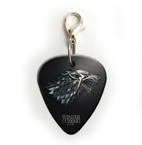 Stark Game Of Thrones Printed Guitar Pick Plectrum necklace bracelet Earrings fc