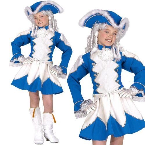 164 Kinder Kostüm Tanzmariechen Garde Uniform blau//weiß Gr FUNKENMARIECHEN