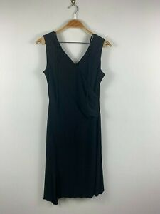 Ojay-Womens-Black-Evening-Dress-Size-12-Sleeveless-Front-Tie