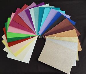 5-x-A4-Sheets-Soft-Touch-Glitter-Card-Choices-of-Colours