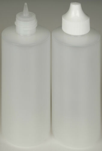 12-Pack 4-oz. Plastic Dropper Bottles Precise Tipped w//White Cap