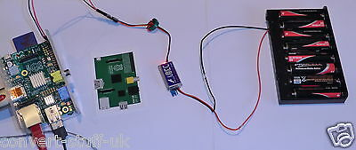 Hobbywing  3A 5 volt UBEC & 12v 8XAA pack. Power a Raspberry Pi from batteries