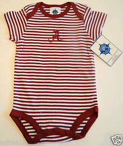 Brand New w/Tags Alabama Crimson Tide Baby Bodysuit Made By Creative Knitwear.