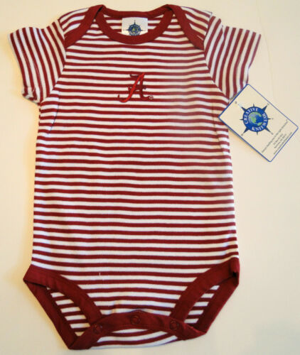 Brand New w/Tags Alabama Crimson Tide Baby Bodysuit Made By Creative Knitwear.