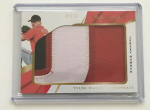 2018-Panini-Immaculate-TYLER-MAHLE-Jersey-Number-Patch-Baseball-Card-SP-10