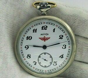 SOVIET-Vintage-Pocket-Watch-USSR-MOLNIJA-Tale-of-Urals-cal-3602-18-Jewels