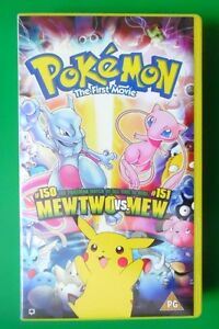 POKEMON-THE-FIRST-MOVIE-VIDEO-VHS-MEWTWO-VS-MEW-2000-93-MINS