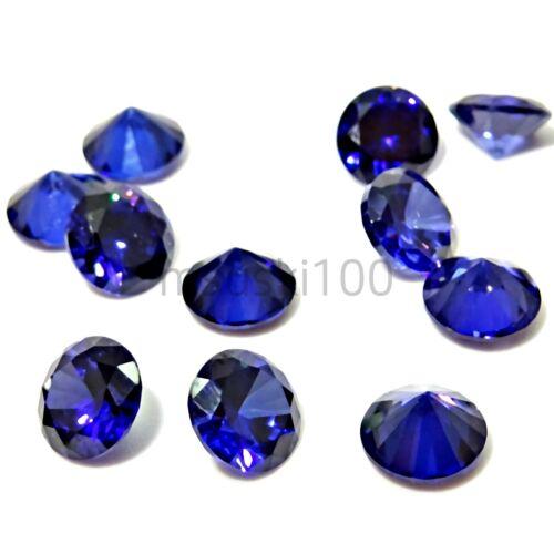 Azul zafiro sueltos piedras zirconia cúbico CZ Redondo Brillante Diamante 1-5mm