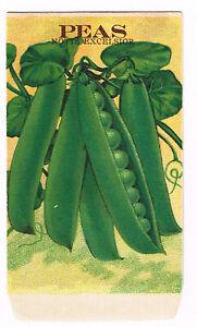 *Original* BURTS SEED Pack Packet SWEET PEAS 1910/'s Flower Horizontal
