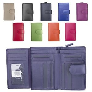 Ladies-Womens-Super-Soft-Large-Genuine-Leather-Purse-Wallet-Zipped-Coin-Section