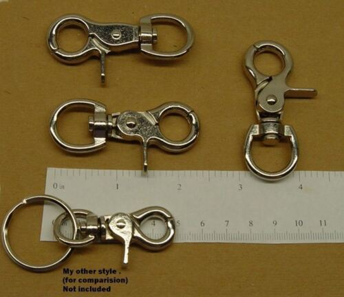 "5 Sturdy Lobster Scissor Clasp Claw with Trigger ~ 2-3//8/"" Long ~ Good for Purses"