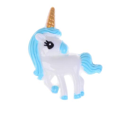 5pcs Cute Unicorn Flat Back Resin Cabochon for DIY Phone Embellishment Decor~@