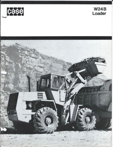 Equipment Brochure - Case - W24 B - Wheel Loader - c1972 - 2 items (E3815)