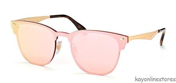 RAYBAN Blaze Clubmaster Sunglasses Rb3576n 043 71 Black Gold Green Club 3576    eBay 86754c32ac