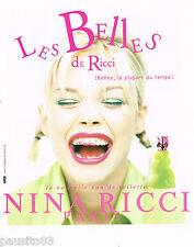 PUBLICITE ADVERTISING 065  1996  NINA RICCI  eau de toilette LES BELLES 2