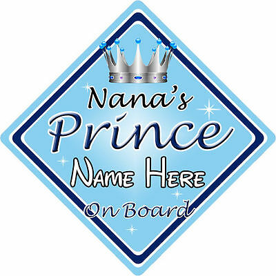 Baby Safety & Health Search For Flights Personalised Child/baby On Board Car Sign ~ Nanas Prince On Board ~ L.blue