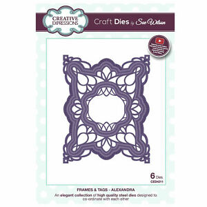 Creative Expressions Craft Dies By Sue Wilson Frames /& Tags-Miche 5055305933657