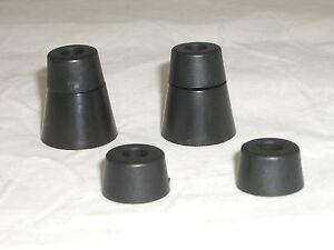 BUDWIG-L6B-TF6T-RADIO-CABINET-PLASTIC-RISER-amp-BUMPER-FEET-FOR-COLLINS-HEATHKIT