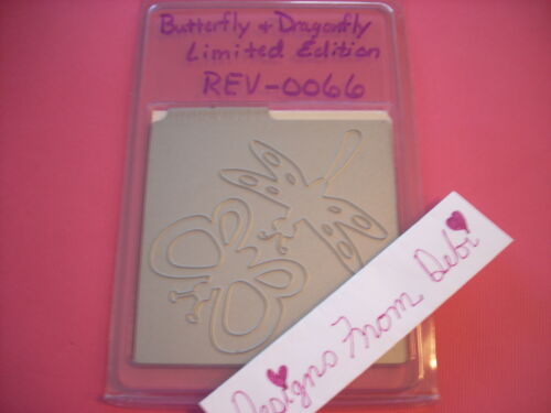 QuicKutz 4x4 Die ~ BUTTERFLY /& DRAGONFLY ~ LIMIT EDITION-0066 NO LABEL