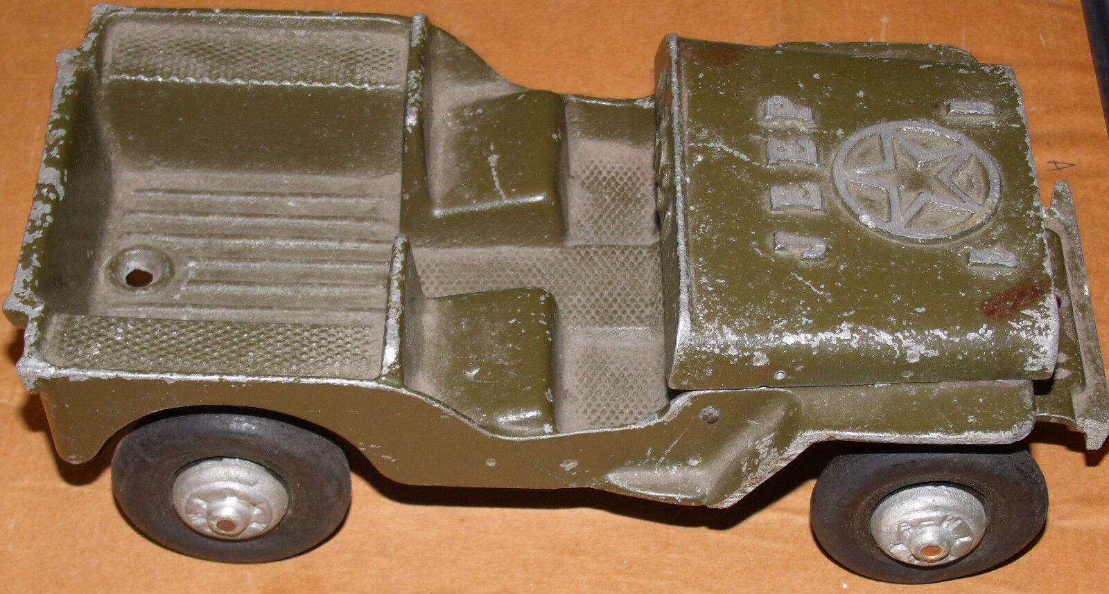 OGLESBY WILLYS JEEP   1950s -- RARE ORIGINAL  OLIVE DRAB GREEN PERU INDIANA
