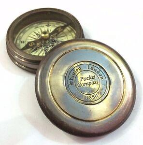 Vintage Stanley London Brass Compass Antiques