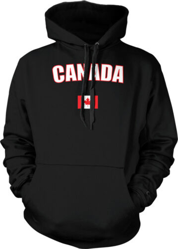 Canada Country Flag Pride Red Maple Leaf Hockey Sports Hoodie Pullover