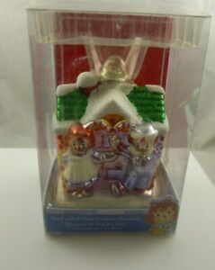 hand crafted glass Christmas Ornament Cute Raggedy Ann & Andy house Anne