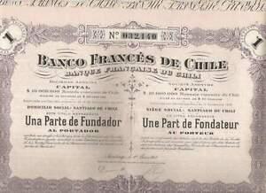 Banco-Frances-de-Chile-Santiago-1917-Une-Part-de-Fondateur