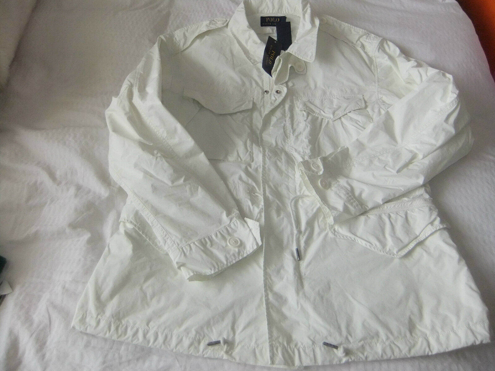Ralph Lauren Da Uomo Combat Giacca Taglia Taglia Giacca L AQUILA bianco ricamato sul retro bcd80c