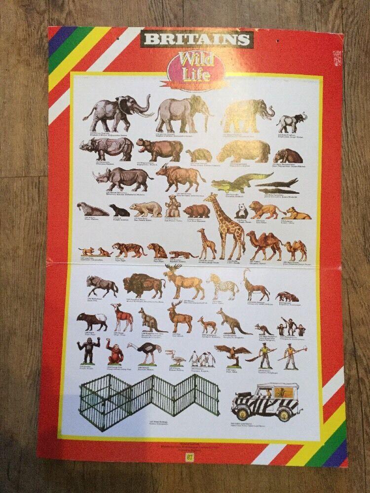 Vintage Britains Zoo Animals Shop Display