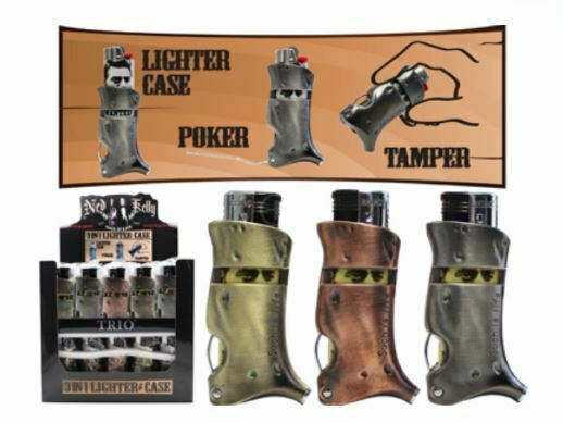 Ned Kelly 3 in 1 Lighter Case Poker Tamper Cigarette Tobacco Mull Buds Toker