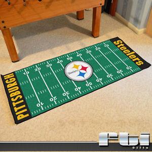 Image Is Loading Pittsburgh Steelers Nfl Football Field Runner Floor Mat
