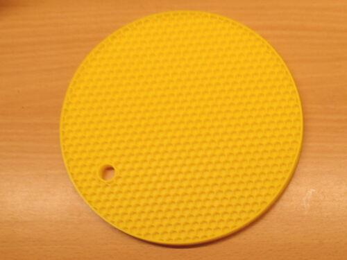 2x Jaune Silicone nid d/'abeille ronde Dessous de plat résistant à la chaleur Maniques Tapis Souple