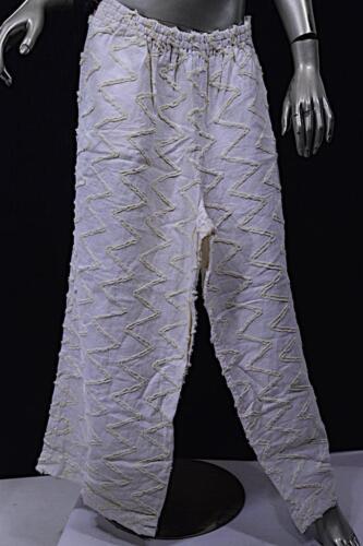 de lin jambe élastique large à taille coton Mélange Blanc et Oska Pantalon de et PRxZwCaCnq