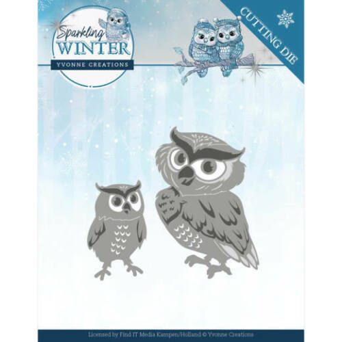 FREE UK P/&P Yvonne Creations Cutting Dies Sparkling Winter
